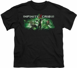 Infinite Crisis youth teen t-shirt Green black