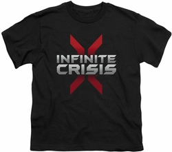 Infinite Crisis youth teen t-shirt Logo black