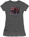 Injustice Gods Among Us juniors t-shirt Bad Girls charcoal