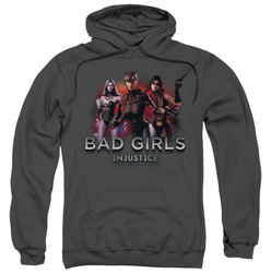 Injustice Gods Among Us pull-over hoodie Bad Girls adult charcoal