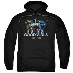 Injustice Gods Among Us pull-over hoodie Good Girls adult black