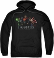 Injustice Gods Among Us pull-over hoodie Injustice League adult black