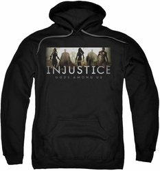 Injustice Gods Among Us pull-over hoodie Logo adult black