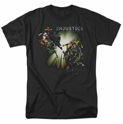 Injustice Gods Among Us t-shirt Good vs Evil mens black