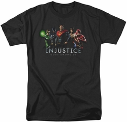 Injustice Gods Among Us t-shirt Injustice League mens black