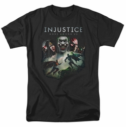 Injustice Gods Among Us t-shirt Key Art mens black