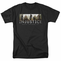 Injustice Gods Among Us t-shirt Logo mens black