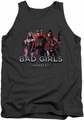 Injustice Gods Among Us tank top Bad Girls mens charcoal