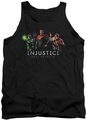 Injustice Gods Among Us tank top Injustice League mens black