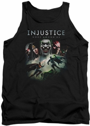 Injustice Gods Among Us tank top Key Art mens black