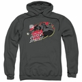 Iron Giant pull-over hoodie Outer Space adult charcoal