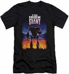 Iron Giant slim-fit t-shirt Poster mens black