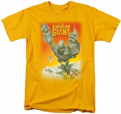 Iron Giant t-shirt Fly Away mens gold