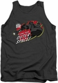 Iron Giant tank top Outer Space mens charcoal