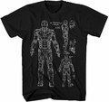 Iron Man 3 Blueprint-M Px Black mens t-shirt XL