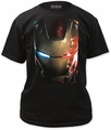 Iron Man close-up adult tee black t-shirt