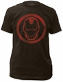 Iron Man Distressed Icon 30/1  black t-shirt pre-order