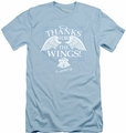It'S A Wonderful Life slim-fit t-shirt Dear George mens light blue