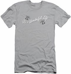 It'S A Wonderful Life slim-fit t-shirt Logo mens silver