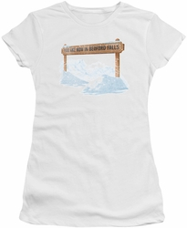 Its A Wonderful Life juniors t-shirt Bedford Falls white