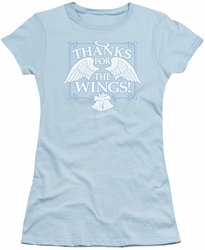 Its A Wonderful Life juniors t-shirt Dear George light blue