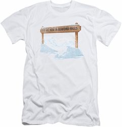 Its A Wonderful Life slim-fit t-shirt Bedford Falls mens white