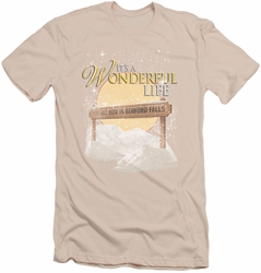 Its A Wonderful Life slim-fit t-shirt Wonderful Story mens cream