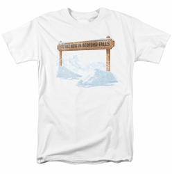 Its A Wonderful Life t-shirt Bedford Falls mens white