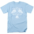 Its A Wonderful Life t-shirt Dear George mens light blue