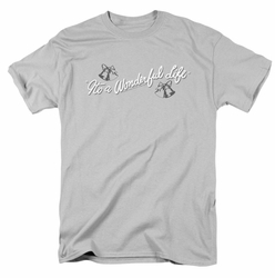 Its A Wonderful Life t-shirt Logo mens silver