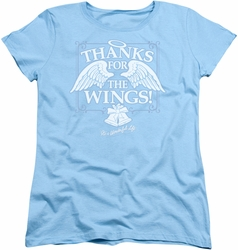 Its A Wonderful Life womens t-shirt Dear George light blue