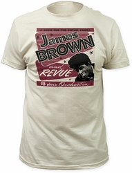 James Brown 18 piece orchestra fitted jersey tee vintage white t-shirt pre-order