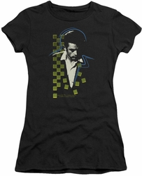 James Dean juniors t-shirt Checkered Darkness black