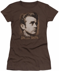 James Dean juniors t-shirt Distressed coffee