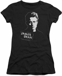 James Dean juniors t-shirt Intense Stare black