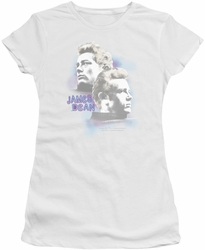 James Dean juniors t-shirt Pastel Charmer white