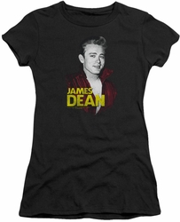 James Dean juniors t-shirt Red Jacket black