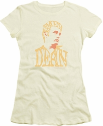 James Dean juniors t-shirt Word Head cream