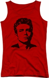James Dean juniors tank top Dean red