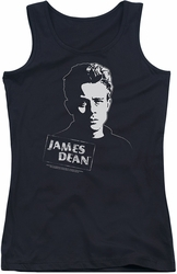 James Dean juniors tank top Intense Stare black