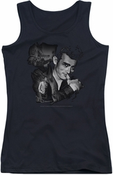 James Dean juniors tank top Mischevious Large black
