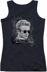 James Dean juniors tank top Movie Star black