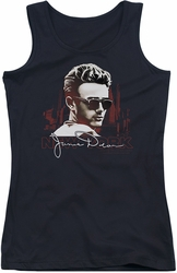 James Dean juniors tank top New York Shades black