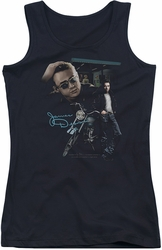 James Dean juniors tank top Pit Stop black