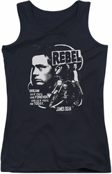 James Dean juniors tank top Rebel Cover black