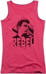 James Dean juniors tank top Rebel Rebel hot pink