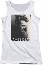 James Dean juniors tank top Reflect white
