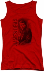 James Dean juniors tank top Trenchcoat red