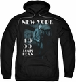 James Dean pull-over hoodie Brooklyn Bridge adult black