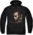 James Dean pull-over hoodie Brown Leather adult black